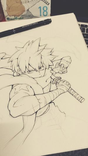 Drawing Soul Eater  Black Star Manga Enjoying Life Hello World Illustration