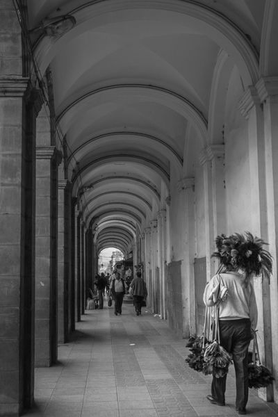 Dust off the Plaza Black & White Bolivia Cochabamba Street View Arch Architectural Column Architectural Feature Architecture Blackandwhite Column Corridor Corridor Walk Feather  Men Plaza Streetphoto_bw Streetphotography The Way Forward Vendor Walking