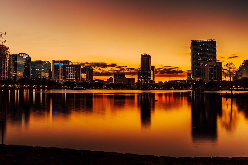 Amazing sunset with downtown skyline Sunset Building Exterior Built Structure Architecture City Water Sky Building Reflection Illuminated Cityscape Nature Urban Skyline Sunset Night No People City Life Landscape River Office Building Exterior My Best Photo