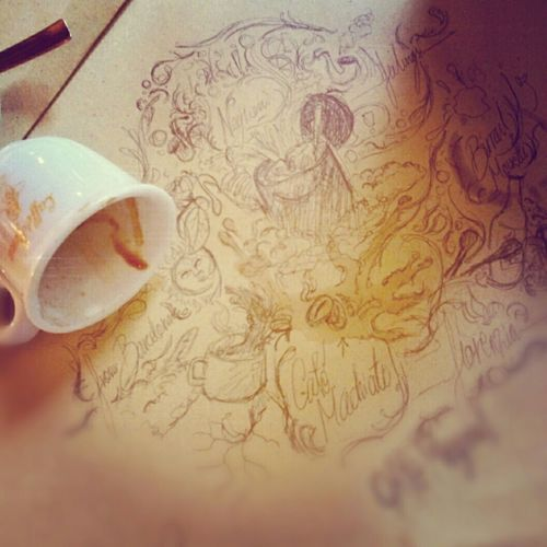 Coffee Inspiration Getting Inspired Draw