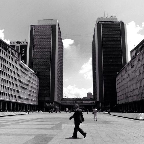 Plaza Caracas, Torres del Silencio. 3.03.15 Blackandwhite Architecture Streetphotography Welcome To Black