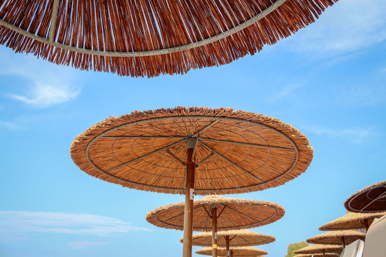 Blue Cloud - Sky Day Low Angle View Nature No People Parasol Sky Sunlight Umbrella