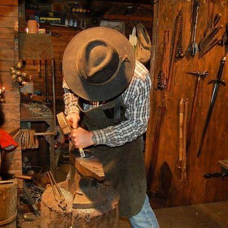 Blacksmith  Gmfm_0189 Artesan Peopleatwork Xmas Market Krakow,Poland