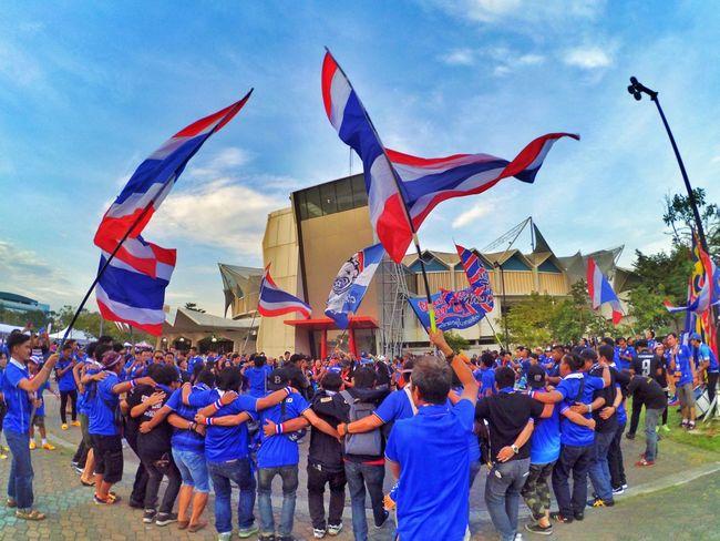 Aff suzuki cup 2016 Football Thai Thailand Ballthai AFFSuzukiCup Affsuzukicup2016 Suzukicup Cheerthaipower Bangkok Sky First Eyeem Photo