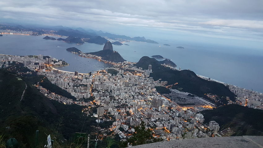 Brasil ♥ Cityscape Cristo Redentor-Río De Janeiro Jesus Loves You Pão De Açucar Awesome_view Clouds And Sky Travel Destinations View From Above View Point