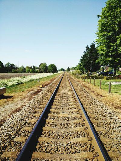 Tracks Tracks Railway Rails Infinity Perspective Minimalism