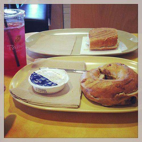 Bestofboth world lol Breakfast Panerabread Yes
