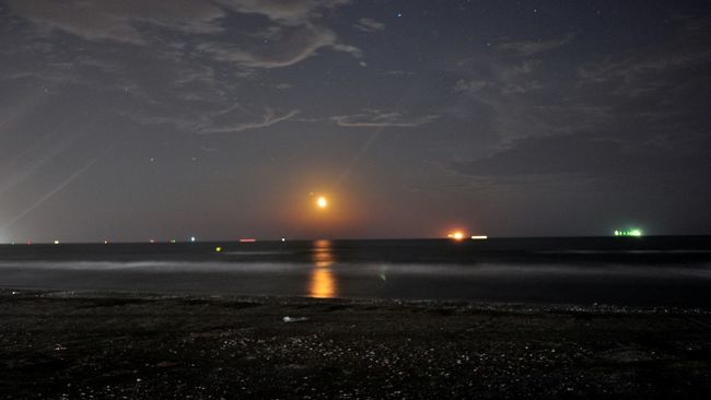 Moon Beach Photography Nightphotography Landscape_photography Sky And Clouds Scenic View The Moon