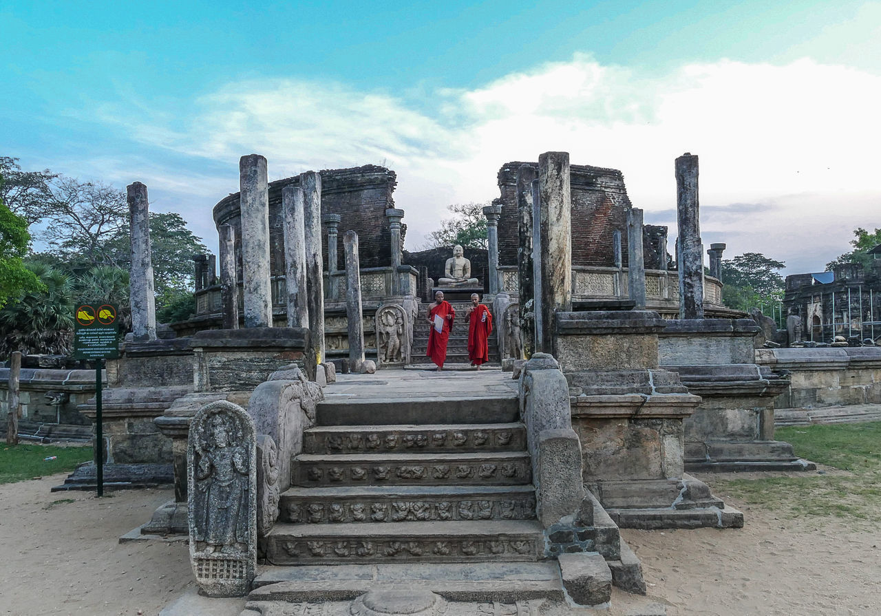 architecture, built structure, sky, history, the past, religion, nature, travel destinations, cloud - sky, travel, ancient, belief, day, staircase, place of worship, tourism, spirituality, building, building exterior, ancient civilization, outdoors, archaeology