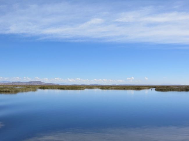 Nature Tranquility Tranquil Scene Scenics Beauty In Nature Water Sky Blue No People Outdoors Lake Reflection Day Travel Destinations Peru Landscape Lake Titicaca Puno, Perú Uros Uru Lost In The Landscape This Is Latin America
