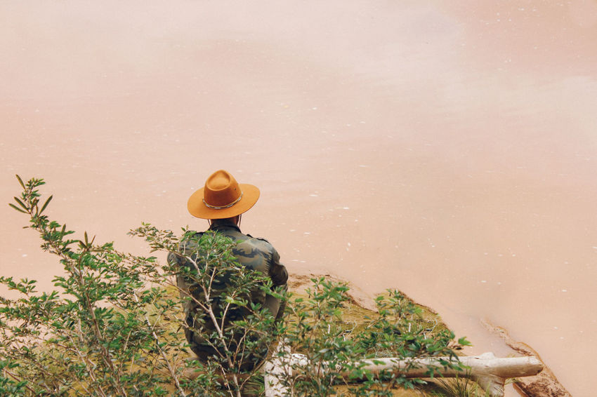 Live For The Story BYOPaper! Cowboy Hat Nature Nature Outdoors Plant Thinking Water