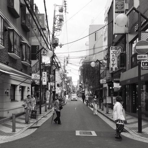 WITHOUTHUE 043 Alley at Shinsaibashisuji Shopping Street Osaka, Japan, 2015 Japan OSAKA Street Alley Blackandwhite Withouthue ShotOnIphone Snapseed The Street Photographer - 2018 EyeEm Awards
