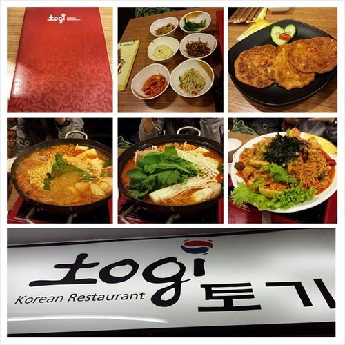 Ate at Togi Korean Restaurant after 2 years! Had 라볶이, 김치전 and 부대찌개!