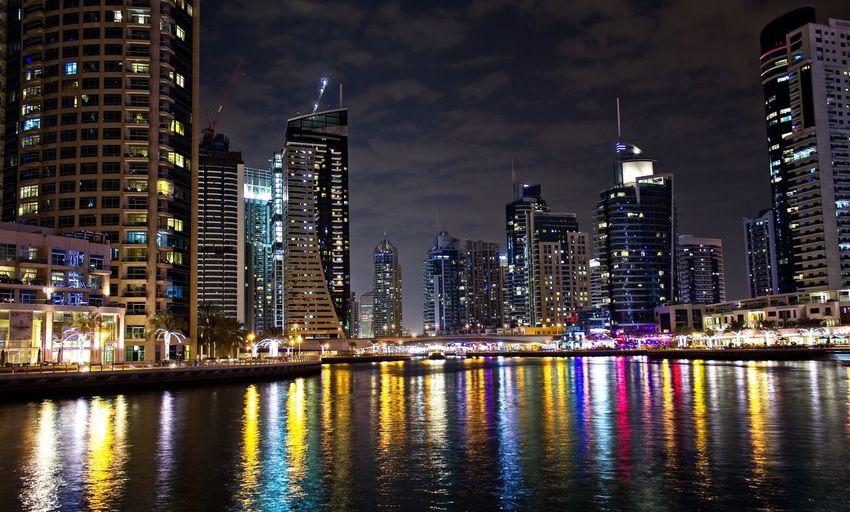 Dubai marina at