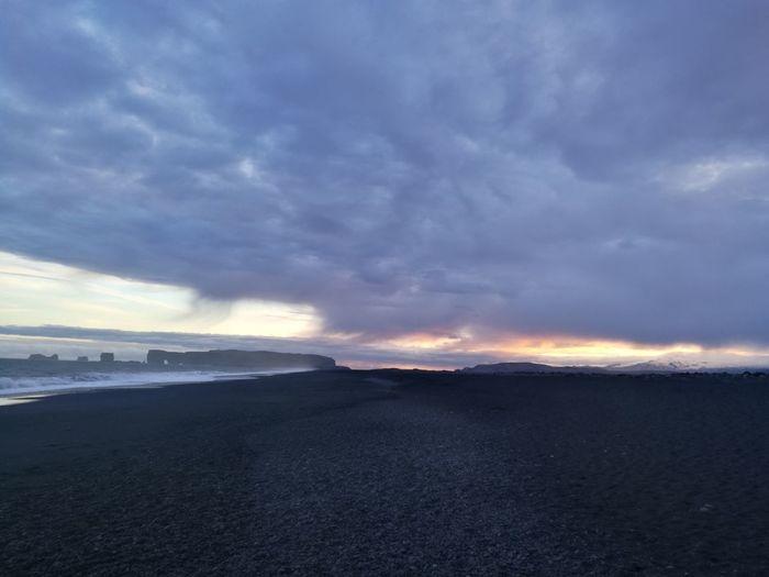 Iceland Islandia Island Reynisfjara Suðurland Vik Vík í Mýrdal Black Beach Black Beach Iceland Black Beach Sand Black Sand Beach Sand Sea Wave Beach Sunset Sky The Great Outdoors - 2018 EyeEm Awards