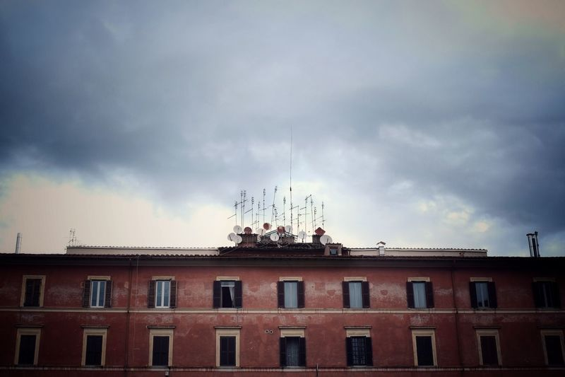 Roman skyline Architecture Building Exterior Cloud - Sky Sky Built Structure Low Angle View No People City Antenna - Aerial Residential District Communication Building