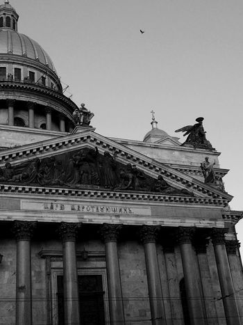 Architecture Built Structure Building Exterior Dome Government Clear Sky Architectural Column Low Angle View No People City Outdoors Tourism Sky History Travel Destinations Day Pediment Saint Petersburg IPhoneography Welcome To Black EyeEm Best Edit Saint Isaac's Cathedral EyeEmNewHere The Architect - 2017 EyeEm Awards The Great Outdoors - 2017 EyeEm Awards Neighborhood Map