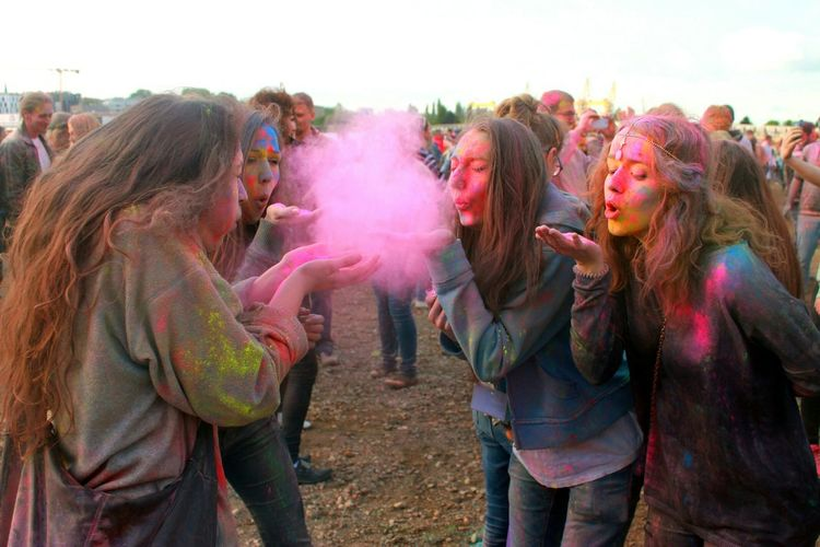 Holi Festival Splash Of Colors Festival Of Colors Colorful People Szczecin Poland