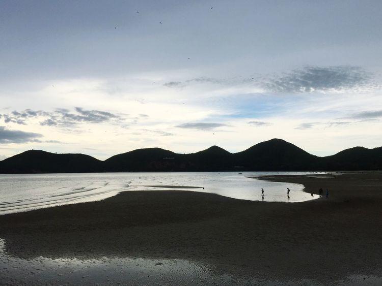 ท้องฟ้ายามเย็น สีดำ สิ่งสวยงามจากทะเล ธรรมชาติ ตะวันตก ทะเล