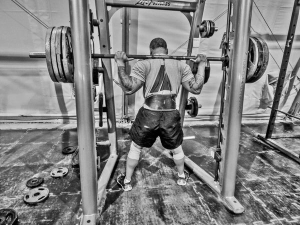 HDR Fit Life  Body & Fitness Lifting Weights 450lb...squat for the 1000lb club challenge.