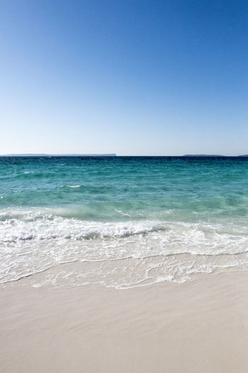 Australia Travel Aquatic Sport Beach Beauty In Nature Blue Clear Sky Copy Space Day Horizon Horizon Over Water Land Motion Nature No People Outdoors Scenics - Nature Sea Sky Tranquil Scene Tranquility Travel Destinations Turquoise Colored Water Wave