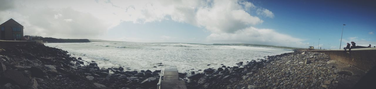 """Beach"" Atlantic Ocean Beach Day IPhoneography Nature Ocean One Person Outdoors Panoramic Rock Beach Sea Sky Vscocam Water Waves"