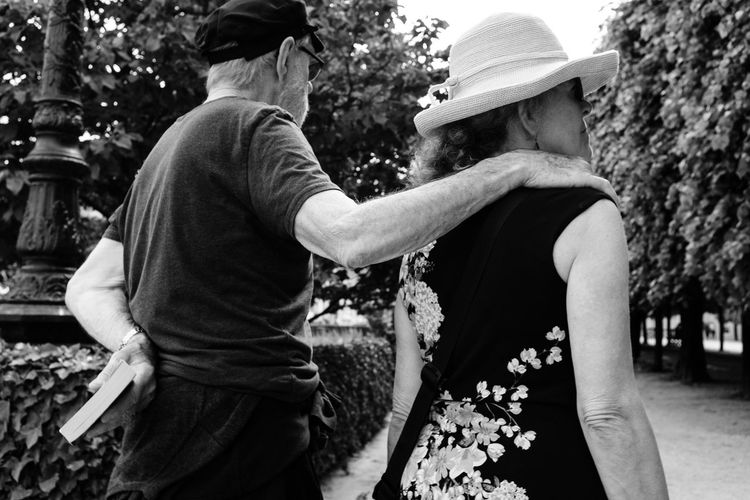 Together Park Walking Romance Couple Street Photography Two People Real People Togetherness Adult Men Women Bonding Rear View Emotion