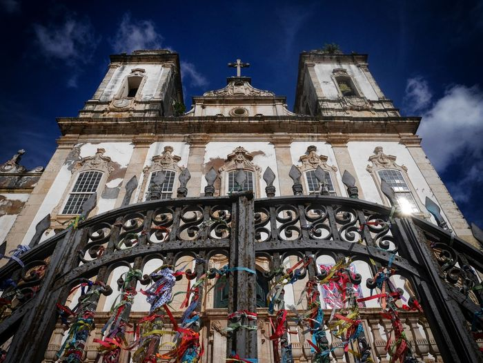 Architecture Sky Low Angle View Travel Destinations No People Outdoors Place Of Worship Religion Built Structure Day City Clock Brazil Brasil Salvador Bahia