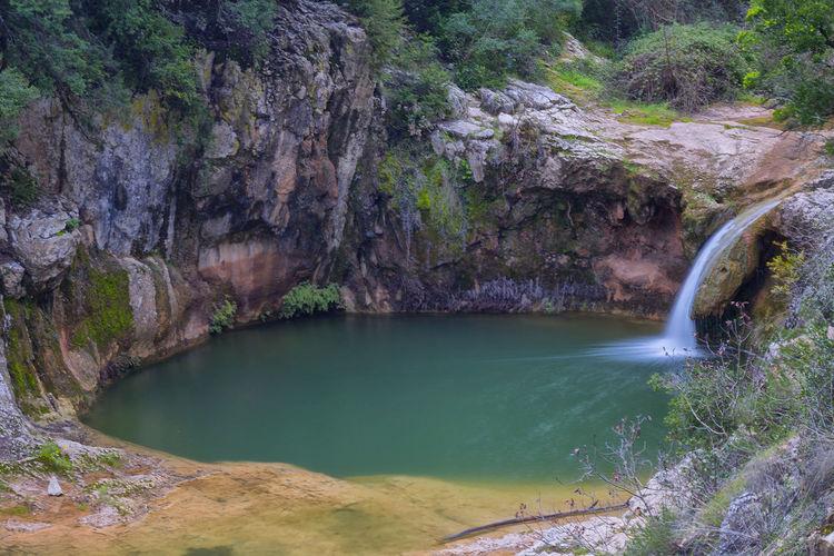 Gorg de Santa Candia Tree Water Waterfall River Mountain Landscape