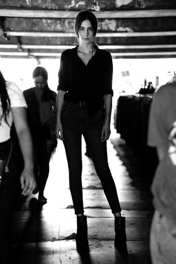 Portrait of woman standing on floor