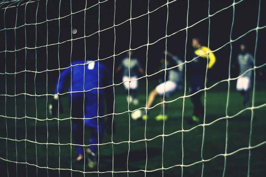 fog Photography Sports Photography EyeEmNewHere Eyem Sports Getty Images Getty X EyeEm Poster Colors Green Color Soccer Net - Sports Equipment Soccer Field Sport Close-up No People Playing Field Night Outdoors Goal Post