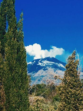 Etna Etna Eruzione Mountain Nature Beauty In Nature Blue Sky Day Scenics