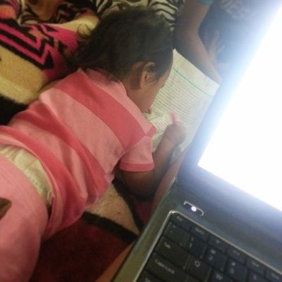 My paper will be colorful (: Littlesister ZanaBana Loveher Homework ohwell