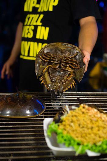 Horseshoe Crab Horseshoe Crabs Seafood Spicy Food Thailand Eggs Food Food And Drink Market Food Street Food Thai Food