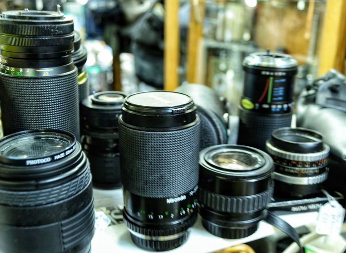 Old lenses Photography Old Lenses Old Lens Photo Photography Themes Still Life Photo No People Eye4photography  Technology Business Finance And Industry Factory Metal Close-up Photographer Photographing Photographic Equipment SLR Camera Digital Single-lens Reflex Camera Camera Camera - Photographic Equipment