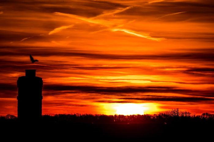 Red sky in the morning during sunrise Sunrise Sun Sky Morning Weather Weather Channel Northants Northampton Northamptonshire Uk United Kingdom
