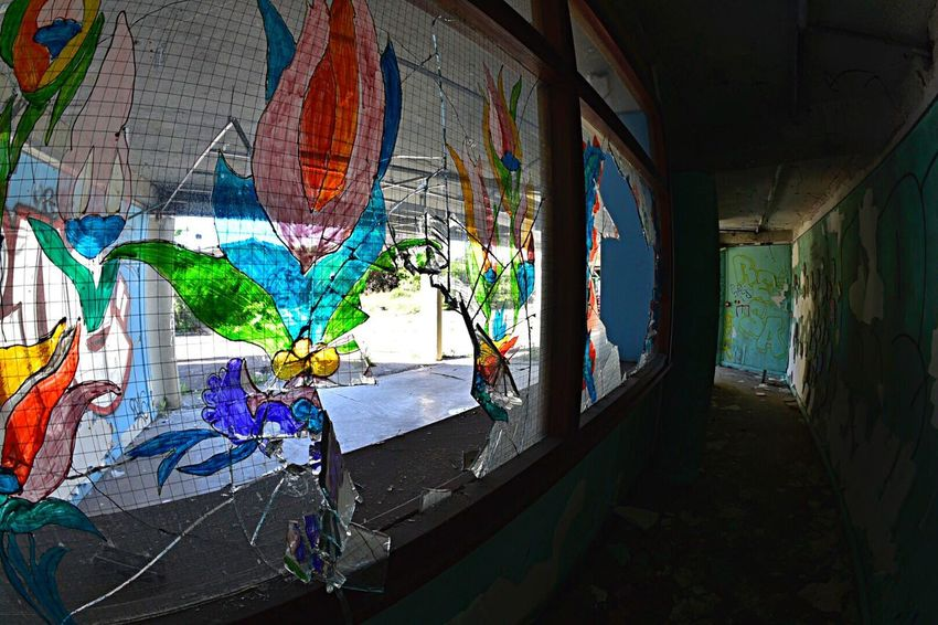 Graffiti Multi Colored No People Indoors  Day Architecture City Bad Condition Abandoned Damaged Urbex