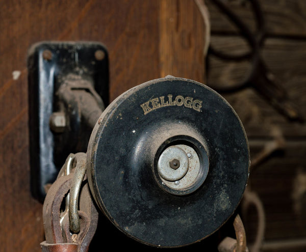 Old Kellogg Phone Antique Kellogg Barn Find Close-up Day Focus On Foreground Indoors  Metal No People Phone PhonePhotography Rusty Talk Telephone