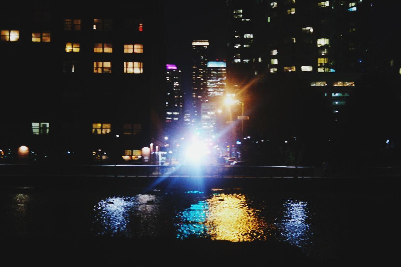 ILLUMINATED CITY BY NIGHT