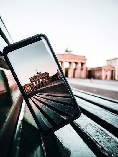 Inception Reflection Berlin Photography Berliner Ansichten Berlin Samsungphotography Samsung Brandenburger Tor Tourism Tourist Tourist Attraction  Close-up Sky Rotary Phone Visiting