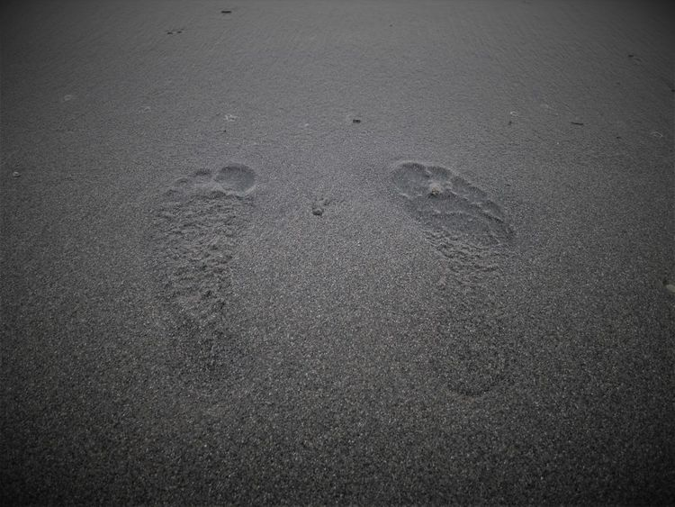 Footprints in the sand Beach Close-up Day FootPrint High Angle View Nature No People Outdoors Playa La Carihuela Sand Vignetting Wet Sand
