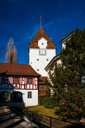 Low angle view of church at sursee