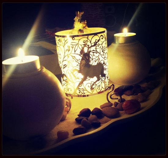 Tonight Is Cold Days Meeting Friends Candlelight