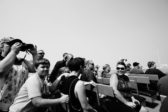 Crowds Reaction Tourism Lake Superior Monochrome Blackandwhite Black And White B&w The Difference Is Spreading Large Group Of People Togetherness Outdoors Sightseeing The Great Lakes
