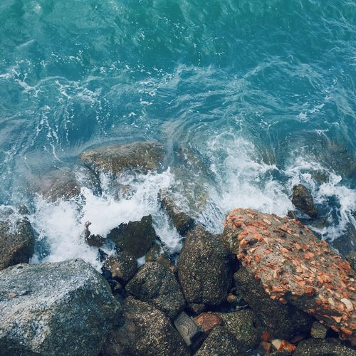 VSCO Tranquil Scene Tranquility EyeEmNewHere Photooftheday Photo Photography Landscape_photography Landscape Malaysia Penang Sea Rock - Object Water Wave Nature Motion Rock Beauty In Nature No People Scenics Power In Nature