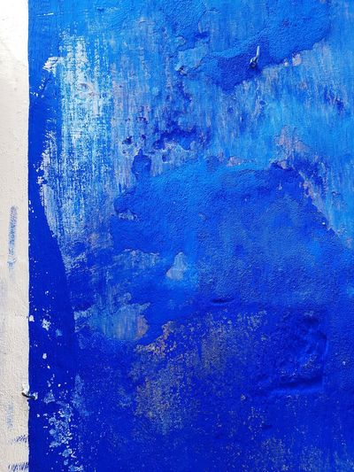 Blue Backgrounds Abstract Textured  No People Pattern Colour Pop Colourful Colour Color Paint Layers Paint Feature Wall Wall Chipped Paint Textured
