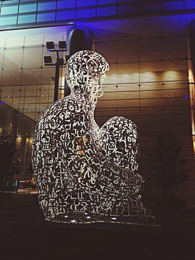 Thinking man sculpture art