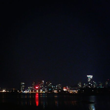 Powai lake at night!