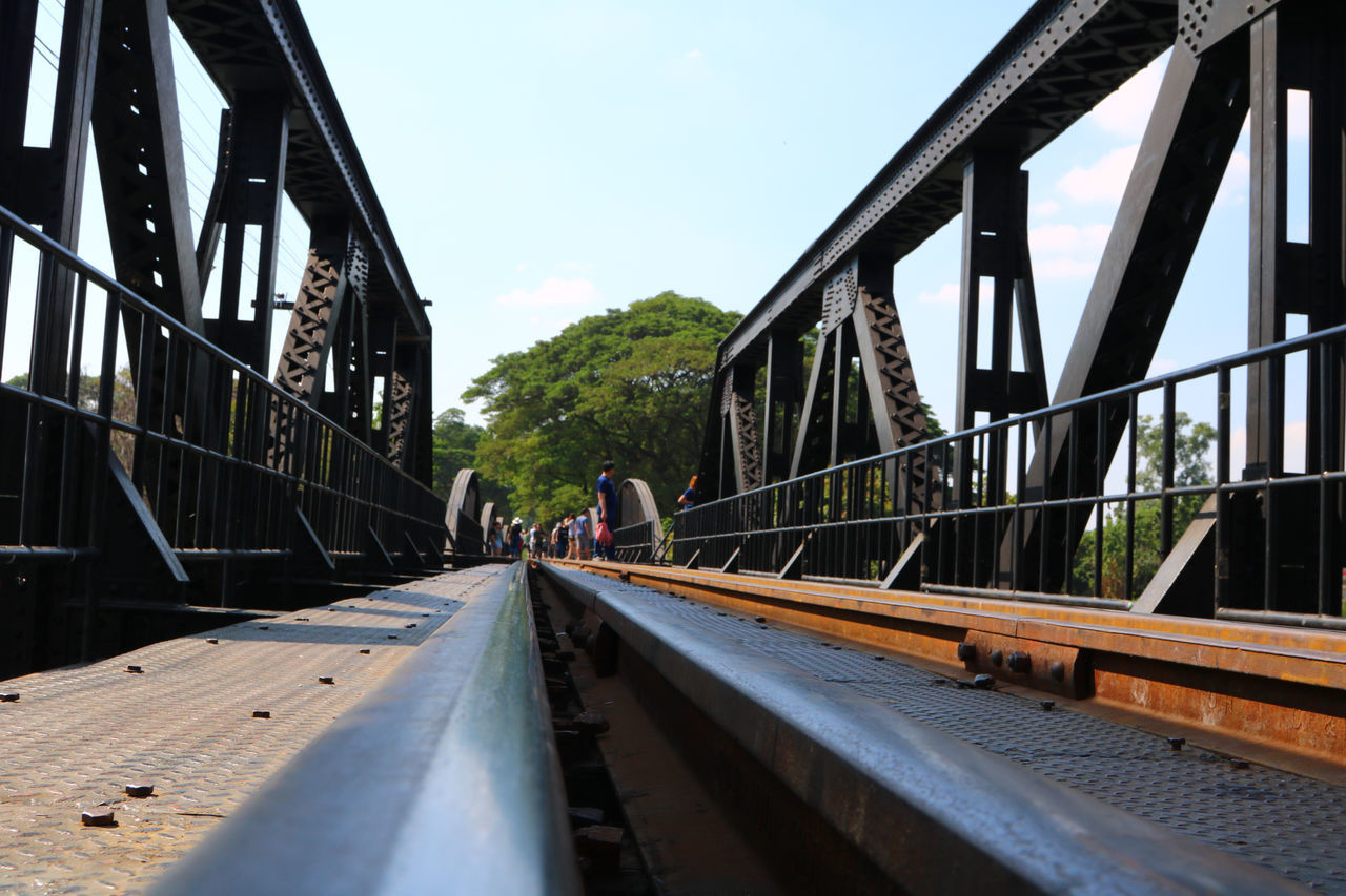 transportation, bridge - man made structure, connection, architecture, built structure, railroad track, railroad bridge, rail transportation, the way forward, sky, bridge, day, no people, outdoors, city