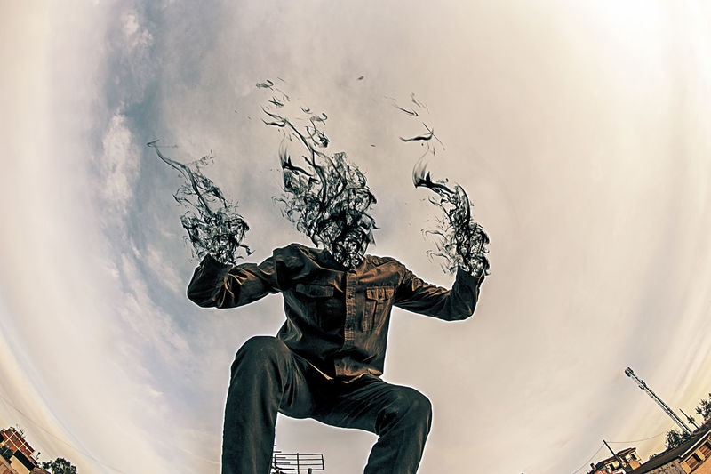 One Man Only Adults Only Cloud - Sky Only Men One Person Digital Composite Human Body Part Men Sky Adult Outdoors People Day Human Hand Smoke Human Face Photography Photooftheday Picoftheday Popular Photos Fantasy Illusion